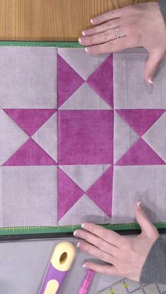 Basic Quilt Math with Triangles -- Sometimes the size of the quilt block in a pattern isn't the size you'd like it to be for your own project. In this episode of My First Quilt, Sara Gallegos explains how to change the size of half square triangles and quarter square triangles.