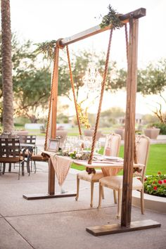 Trilogy at Vistancia Weddings | Arizona Wedding Venue | Suspended Sweetheart Table | Rustic | Rope | Wooden | Unique | Lifted | www.weddingsatvistancia.com | Drew Brashler Photography