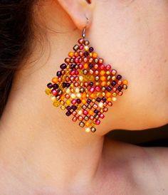 Warm colours for earrings