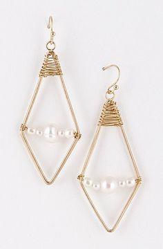 Pyramid Pearl Earring $9.75