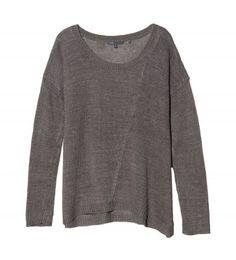 // vince > ballet neck linen sweater.