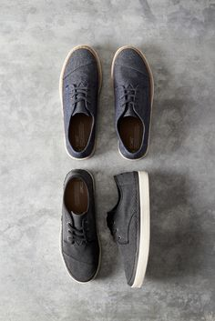 c669d6b677b Black Washed Canvas or Navy Denim Men s Paseo Sneakers. These low-top shoes  make