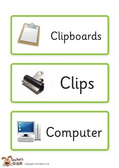 Teacher's Pet - Writing classroom labels - FREE Classroom Display Resource - EYFS, KS1, KS2, writing, classroom, labels, pens, trays, drawer...Just what I need for my new classroom drawer units.