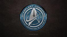 New Star Trek USS Discovery Starfleet Command Logo by gazomg on DeviantArt Star Trek 2009, New Star Trek, Star Trek Series, Star Trek Uss Discovery, Star Trek Wallpaper, Star Trek Logo, Star Trek Uniforms, Deep Space 9, Star Trek Online
