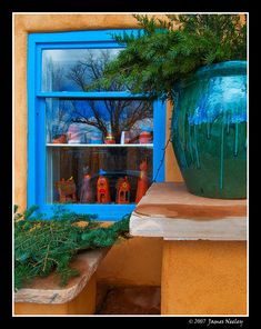 Shop window, Canyon Street, Santa Fe, New Mexico; photo by James Neeley