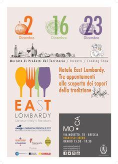 """Inaugura sabato 2 dicembre""""Natale East Lombardy, tre appuntamenti alla scoperta dei sapori della tradizione."""