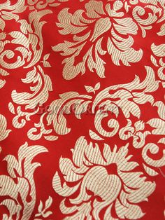 Chinese red and gold brocade fabric
