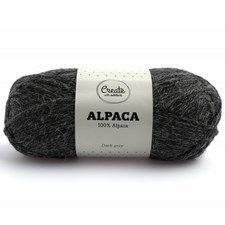 Adlibris Alpakkagarn 50g Dark Grey A003
