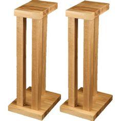 Hi Fi Racks Podium T5 3 Leg Speaker Stands Oak (Pair)
