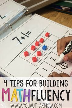 Building Math Fluency in the Special Education classroom is easy with these 4 tips. Check out how I build Math Fluency in my Autism Classroom! classroom 4 Tips for Building Math Fluency - You Aut-A Know Preschool Math, Fun Math, Teaching Math, Kindergarten Math, Teaching Ideas, Easy Math, Math Skills, Math Lessons, Math Tips
