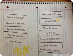 Have students sort sentences and fragments in their spirals.  Talk about the fact that just because sentences are short doesn't mean they aren't complete.