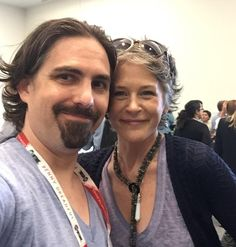 And so begins Comic Con, with the amazing @mcbridemelissa! #SDCC #SDCC2015 #ComicCon2015 #AMC @WalkingDead_AMC // OMG Bear McCreary and Melissa McBride in one pic!