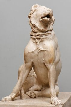 This ancient Roman statue of a cropped Molosser, called the Jennings Dog, is named after its English owner, Henry Constantine Jennings. Roman Sculpture, Dog Sculpture, Animal Sculptures, Ancient Greek Sculpture, Ancient Art, Ancient Rome, Sculpture Romaine, Greek Antiquity, Alexandre Le Grand