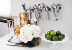 Love this silverware holder. Why not leave your flatware out in the open, if it all matches of course!