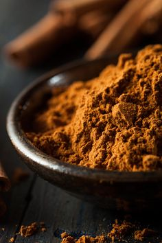 Organic Raw Brown Cinnamon by Brent Hofacker - Photo 71943717 - Cinnamon Extract, Cinnamon Spice, Cinnamon Powder, Cinnamon Rolls, Dark Food Photography, Spices And Herbs, In China, Spice Things Up, Herbalism