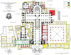 Plano de la catedral de Santiago de Compostela. Kenneth John Conant
