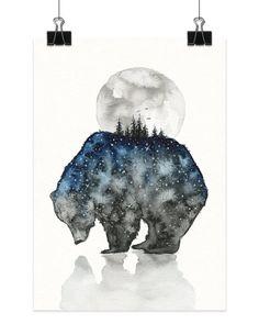 Animal Illustrations Filled with a Starry Sky – Fubiz Media