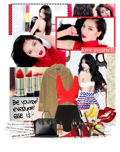 """""""Red lipstick, make it more red"""" by aliicia21 ❤ liked on Polyvore featuring Arthur Court Designs, Rochas, Rosendahl, Manic Panic, Hervé Léger, T By Alexander Wang, Christian Louboutin, Givenchy and Yves Saint Laurent"""