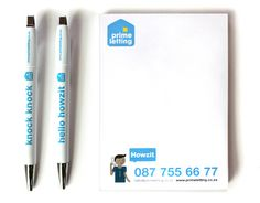 Prime Letting Notepads Design. www.room13.co.za