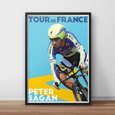 Tour De France Poster  Peter Sagan  Cycling by TroutLifeStudio