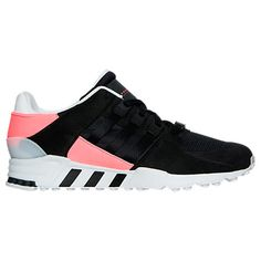 Mens adidas EQT Support Refine Casual Shoes Black Black Turbo BB1319 BBT - Click Image to Close