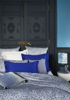 Blue floral bedding from Madura