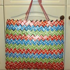 Milk carton reusable shopping bag