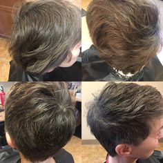 Beautiful short pixie cut just what she was looking for :)