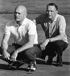 CALIFORNIA, UNITED STATES - 1964: (L-R) Actor Yul Brynner and entertainer Frank Sinatra playing game of golf. They are favorite partners on the links. (Photo by John Dominis/The LIFE Picture Collection/Getty Images)