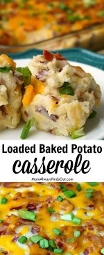 Loaded Baked Potato Casserole Recipe - Real Potatoes, Real Cheese, Real Bacon!