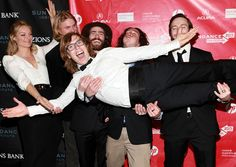 Director Lucy Walker premiered her documentary The Crash Reel at the 2013 #Sundance Film Festival. Walker had some fun on the step and repeat with snowboards Mikkel Bang, Danny Davis, Luke Mitrani, Jack Mitrani and the film's subject Kevin Pearce before the premiere. #CrashReel won't be in theatres until the end of the year, but you can see it right NOW on #HBO!