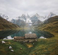 """Alex Strohl (@alexstrohl) on Instagram: """"People from the Huayhuash do know where to build their homes.. A moody sunset over Laguna…"""""""