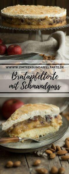 Wundervoll saftiges Törtchen mit Bratapfelgeschmack und leckerem Schmandtopping - perfekt für den Advents- oder Weihnachtskaffee - das einfache Rezept auf meinem Blog