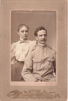 Spanish-American War era portrait of a United States Volunteer soldier and his wife