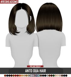 Sims 4 Hairs ~ Coupure Electrique: Anto`s Dua hair retextured - kids and toddler. Sims 4 Hairs ~ C Sims 4 Toddler Clothes, Sims 4 Mods Clothes, Sims 4 Cc Kids Clothing, Girl Clothing, Toddler Boys, Sims Four, Sims Cc, Sims 4 Cas, Muebles Sims 4 Cc