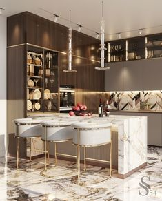 Kitchen Pantry Design, Luxury Kitchen Design, Luxury Kitchens, Home Decor Kitchen, Interior Design Kitchen, Home Kitchens, Kitchen Ideas, Home Room Design, Dining Room Design