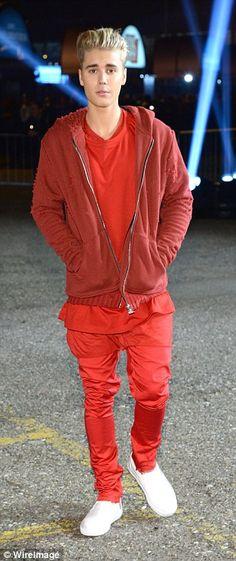 Justin Bieber at the MTV EMAs. via MailOnline