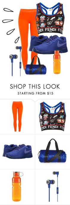 """workout in style"" by mimivasilevak ❤ liked on Polyvore featuring adidas, Fendi, NIKE, Topshop, OXO, JBL and Old Navy"