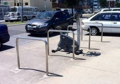Somebody parked their training bicycle at the bike racks – uncooked Bicycle Rack, Bike, Image Macro, Mind Blown, Funny Pictures, Funny Pics, Hilarious, Fun Facts, Exercise