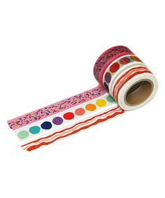beve Fun Washi Tape - Set of Three Washi Tape Storage, Washi Tape Set, Masking Tape, Arts And Crafts, Paper Crafts, Diy Crafts, Duck Tape Crafts, Decorative Tape, Fabric Paper