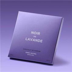 Enric Rovira, Noir de Lavande:  Chocolate negro 60% cacao con aceite esencial de lavanda francesa. Perfume comestible de alta gastronomía y de extrema elegancia y sofisticación. (3,36€)