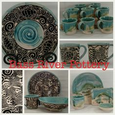 Beautiful pottery on cape cod. Sgraffito, Cape Cod, Bass, Pottery, River, Tableware, Beautiful, Cod, Ceramica