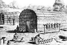Indian Tribes, Native Indian, Mohawk People, Mohawk Indians, Native American Projects, Yurt Living, Long House, Iroquois, Lake District