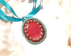 "Turquoise Pink Pendant, ""Thesaurus""  Collection by Memet Jewelry"