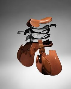 Exploded view of saddle---Um yeah how cool is this!!!  www.thewarmbloodhorse.com
