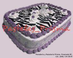 Pastel de Cebra para cumpleaños de media plancha