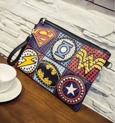 Bolsa Divertida Clutch Super Herois Bolsas Divertidas