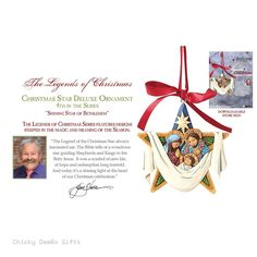 Jim Shore Heartwood Creek Legend of Christmas Star Ornament 4055052