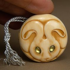 Moon Rabbit Netsuke