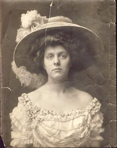 EDWARDIAN, hairstyle and wide brimmed hat.